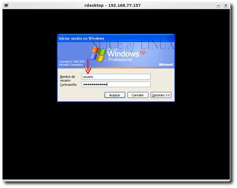 descargar escritorio remoto windows xp utilizar escritorio remoto de windows xp desde ubuntu 2 170