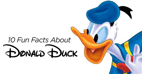 Unique Facts About Donald by A Photo Of Donald Duck Impremedia Net