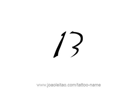 the number 13 tattoo designs thirteen 13 number designs tattoos with names