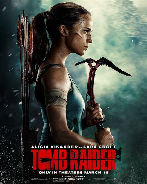 film action 2018 lara croft gears up in new tomb raider posters