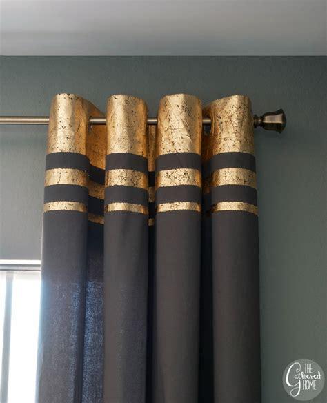 Diy Gold Leaf Embellished Curtains The Gathered Home