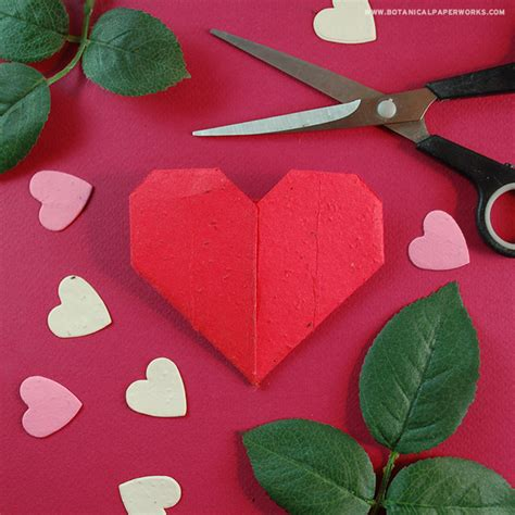 How To Make Hearts Out Of Paper - 3 seed paper craft ideas botanical paperworks