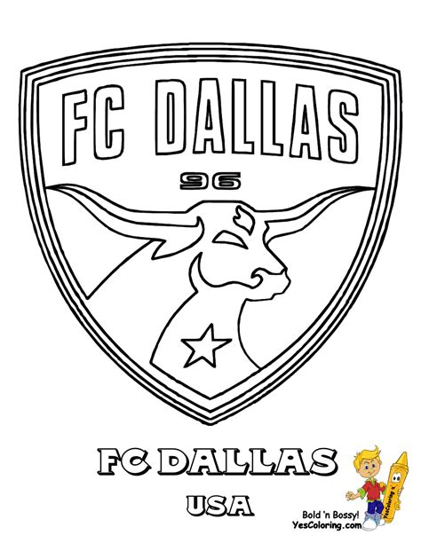 Fc Dallas Coloring Pag Fc Team Coloring Pag Coloring Soccer Team Coloring Pages