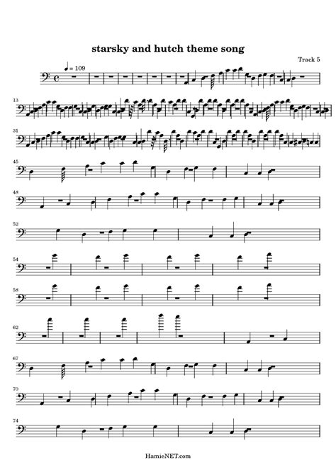 Theme Song For Starsky And Hutch starsky and hutch theme song sheet starsky and hutch theme song score hamienet