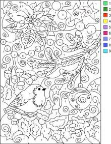 color by number for adults s free coloring pages