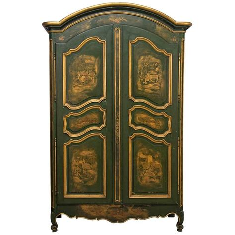 french painted armoire 18th french louis xv chinoiserie painted armoire at 1stdibs