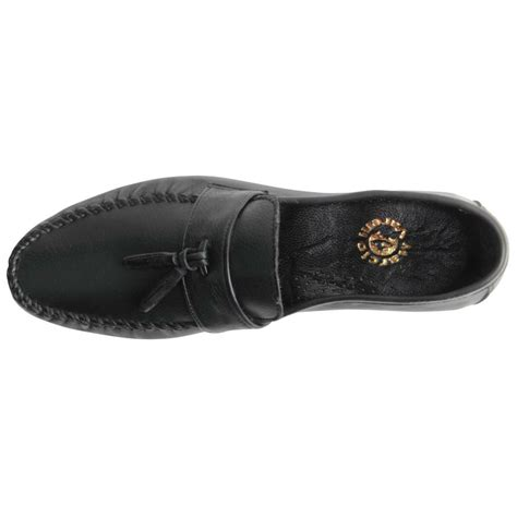 Genuine Leather Stitched Loafers mens genuine leather slip on loafers heavy stitched tassel