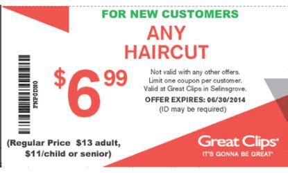 haircut coupons for walmart great clips coupon sunbury hair salon health and