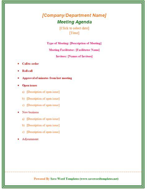 agendas for meetings templates free staff meeting agenda template 39 professional agenda