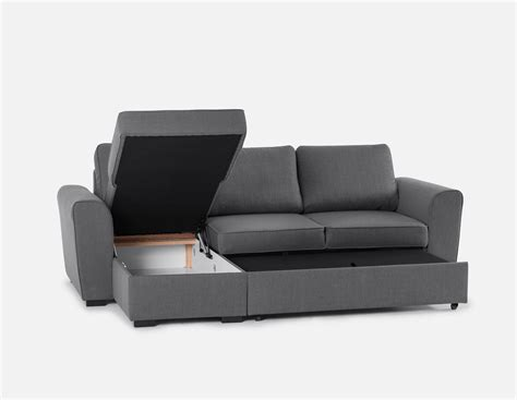 interchangeable sofa berto interchangeable sectional sofa bed with storage grey