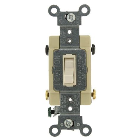 leviton decora 15 single pole ac switch white