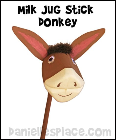 paper bag donkey pattern horse and donkey crafts and activities for kids