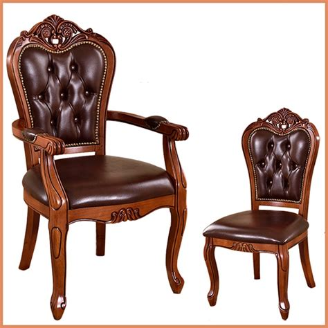 classic chair european solid wood dining chair hotel coffee chairs study