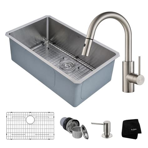 30 undermount kitchen sink vigo undermount stainless steel 30 in single bowl kitchen