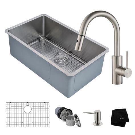 one bowl kitchen sink vigo undermount stainless steel 30 in single bowl kitchen