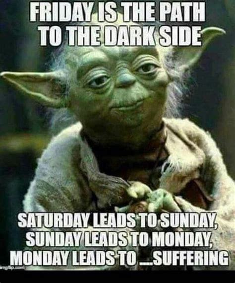 friday   path   dark side yoda meme funny
