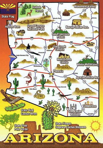 map of arizona tourist attractions the laptop traveler december 2009