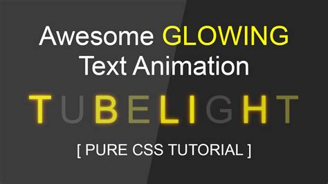 css tutorial text cool css glowing text animation tutorial html css