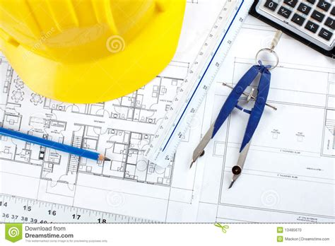 House Architecture Drawing by Construction Drawing Stock Photo Image 13485670
