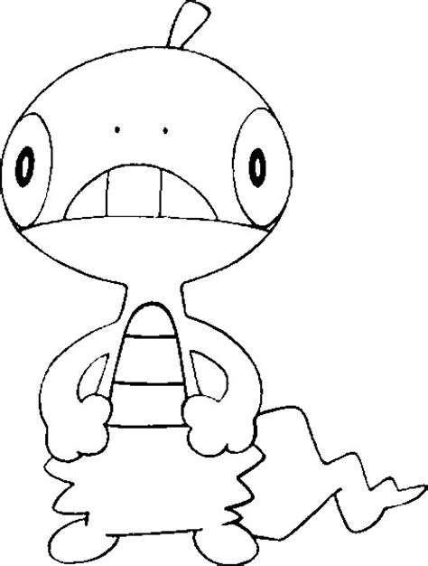 Pokemon Coloring Pages Scraggy | coloring pages pokemon scraggy drawings pokemon