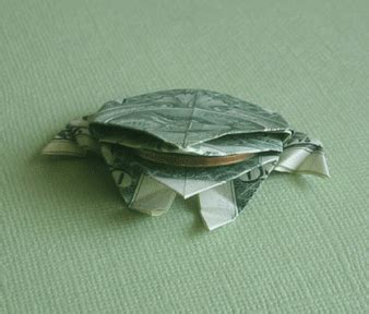 Origami Money Frog - origami frogs