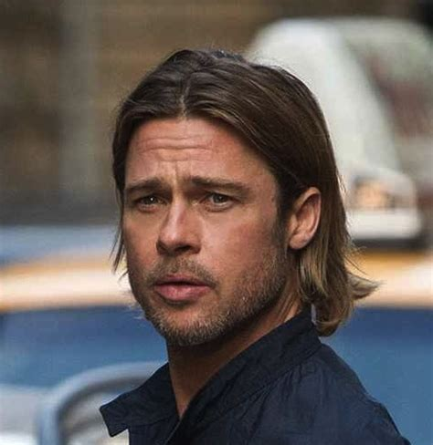 men tuck hair behind ears brad pitt hair 2012 stylish eve 23 most popular long hairstyles for men