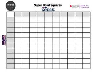 super bowl squares pool for charity tri for les