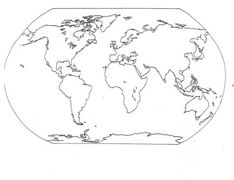 Free Coloring Page World Map | free printable world map coloring pages for kids best