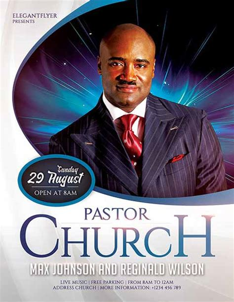 Download The Pastors Church Free Flyer Template For Photoshop Church Conference Poster Template