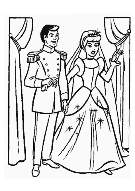 wedding cinderella coloring pages freecoloring4u com