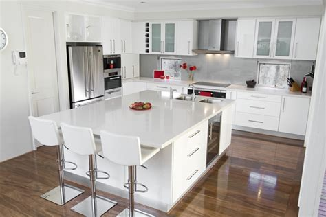 Glossy White Kitchen Design Trend Digsdigs White And Wood Kitchen Cabinets