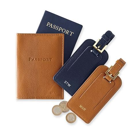 Leather Tag leather luggage tag and graham