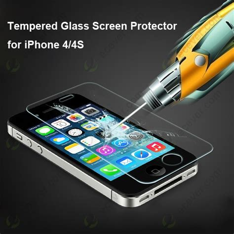Tempered Glass Iphone 4 tempered glass screen protector for iphone 4 4s