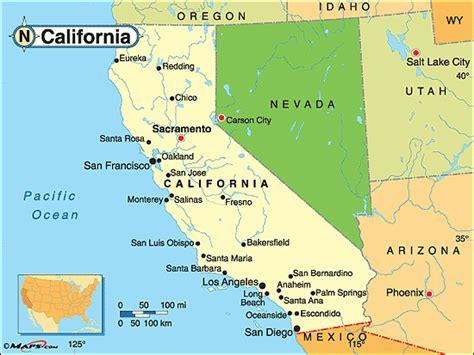california map landforms mrs cady california