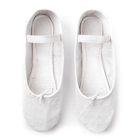 white ballet shoes leather ballet shoes meteor white shoes balley shoes
