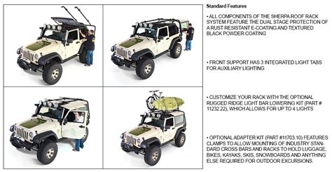 Sherpa Roof Rack System by Rugged Ridge Sherpa Roof Rack System