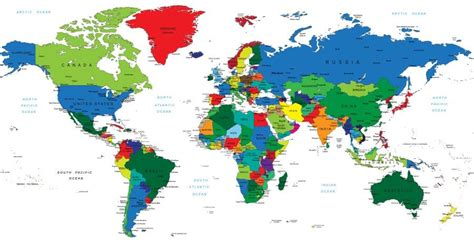 free vector world map with country names map of x haritalar