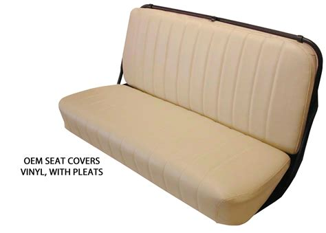 clear vinyl bench seat covers 1947 1954 chevrolet truck factory replacement seat covers