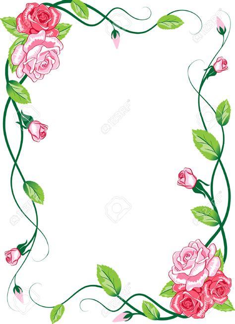id card border design rose petals border clipart 86