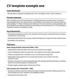 sle blank cv template 6 documents in pdf word
