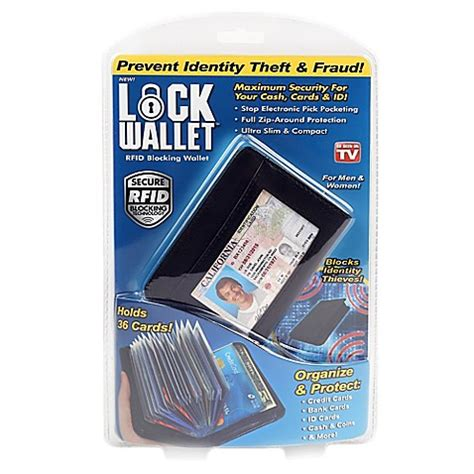 bed bath and beyond as seen on tv buy lock wallet from bed bath beyond