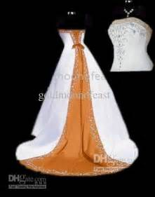 orange and white wedding dresses discount white and orange wedding dress gown