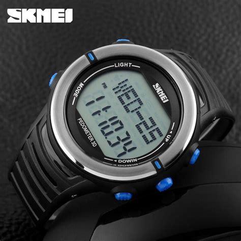 Jam Tangan Pria Skmei Pedometer S Shock Dg 1058 Berkualitas skmei jam tangan digital pria dg1111hr black blue jakartanotebook