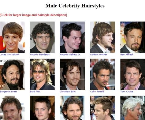 list of men hairstyles list of haircuts haircuts models ideas