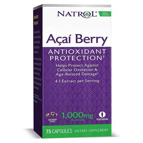 Natrol Acai Berry 1000 Mg Antioksidan 75 Vcaps natrol acai berry 1 000 mg 75 veggie capsules