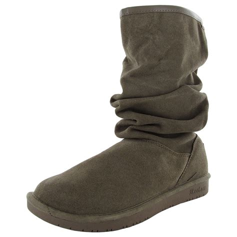 skechers snow boots skechers womens shelbys helsinki 48477 slouch snow boot