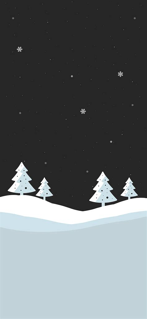 snowy winter christmas wallpapers  iphone