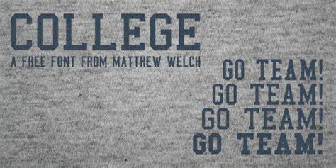 dafont university college font dafont com
