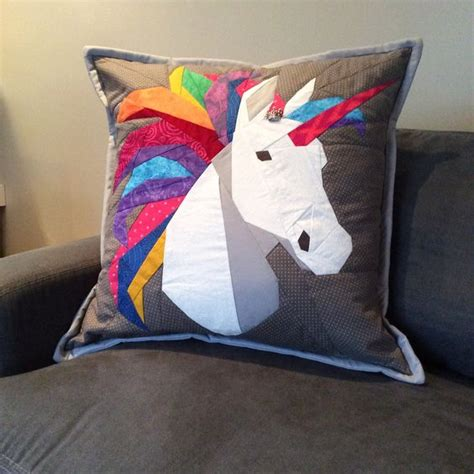 unicorn cushion pattern quilted unicorn pillow pattern from robynie quilts