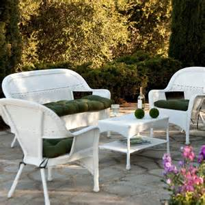 White Outdoor Patio Furniture Furniture Stunning Home Depot Wicker Patio Furniture Collection Exterior White Wicker Outdoor